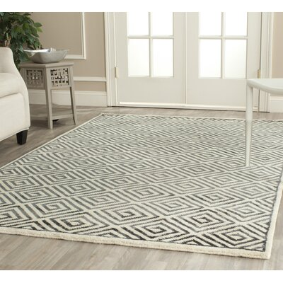 Mosaic Ivory / Grey Geometric Rug Rug Size: Rectangle 6 x 9