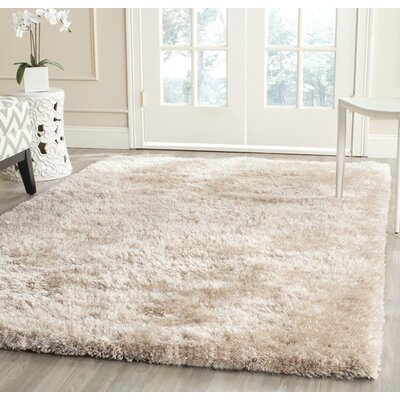 Martha Stewart Shag Champagne Area Rug Rug Size: Rectangle 5 x 8