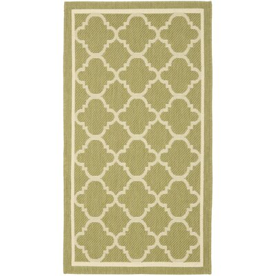 Short Green/Beige Indoor/Outdoor Area Rug Rug Size: Rectangle 9 x 126