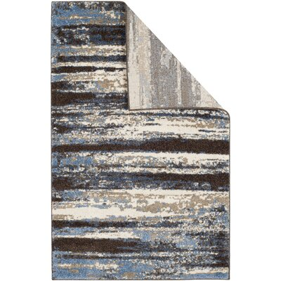 San Jacinto Cream/Blue Area Rug Rug Size: Rectangle 4 x 6