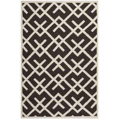 Cassiopeia Handmade Wool Brown/Ivory Area Rug Rug Size: Rectangle 6 x 9