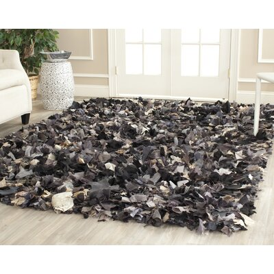 Messiah Hand-Tufted Gray/Brown/Black Area Rug Rug Size: Rectangle 6 x 9