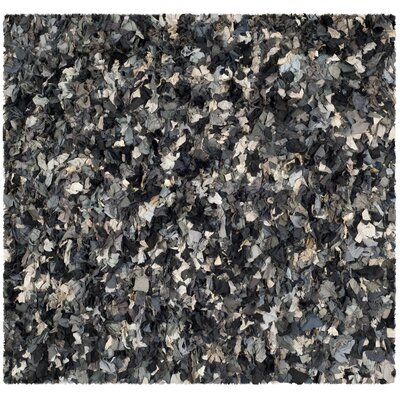Messiah Hand-Tufted Gray/Brown/Black Area Rug Rug Size: Square 6