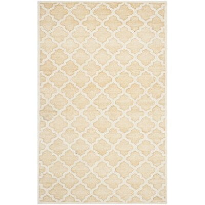 Precious Hand-Tufted Cotton Beige Area Rug Rug Size: Rectangle 3 x 5