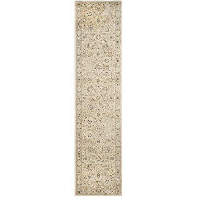 Lavelle Ivory/Grey Area Rug Rug Size: Runner 2 x 12