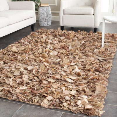 Carrol Hand-Tufted Brown Area Rug Rug Size: Rectangle 4 x 6