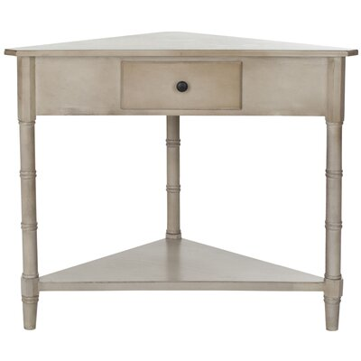 Broadalbin End Table With Storage Color: Vintage Grey