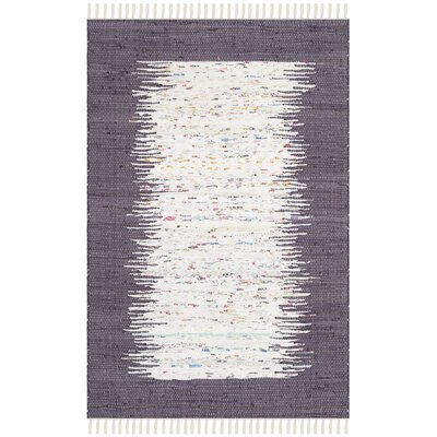 Ona Hand-Woven Cotton Purple/White Area Rug Rug Size: Rectangle 3 x 5