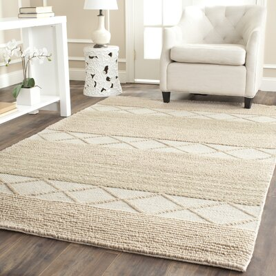 Williston Highlands Beige Tufted Wool Area Rug Rug Size: Rectangle 5 x 8