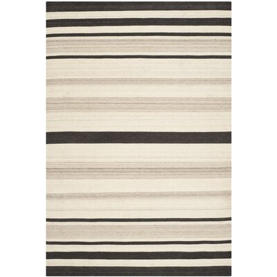 Dhurries Natural/Grey Moroccan Area Rug Rug Size: Rectangle 8 x 10