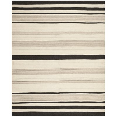 Dhurries Natural/Grey Moroccan Area Rug Rug Size: Rectangle 9 x 12