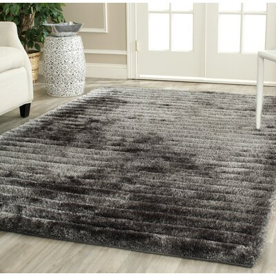 Blanch Hand-Tufted Black/Gray Area Rug Rug Size: Rectangle 26 x 4