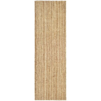 Gaines Hand-Woven Natural Area Rug Rug Size: Runner 26 x 22