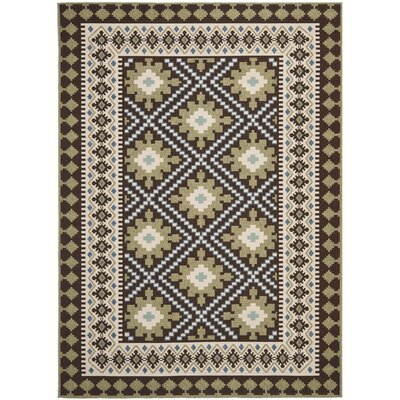 Zahr Chocolate Indoor/Outdoor Area Rug Rug Size: Rectangle 8 x 112