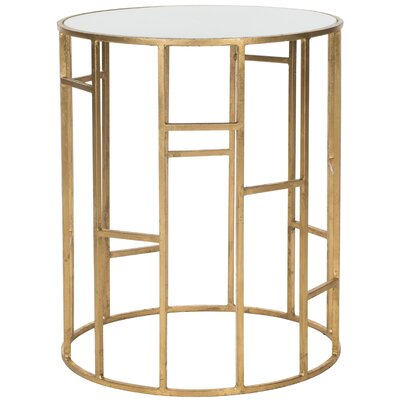 Nasim End Table Color: Gold