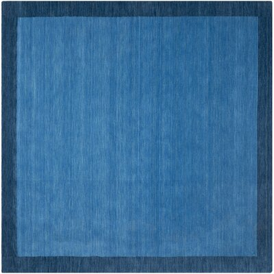Southbury Hand-Loomed Blue Area Rug Rug Size: Square 8