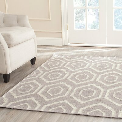 Cassiopeia Hand-Woven Gray/Ivory Area Rug Rug Size: Rectangle 6 x 9