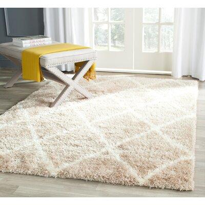Macungie Trellis Beige Indoor Area Rug Rug Size: 4 x 6