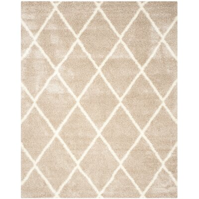 Macungie Trellis Beige Indoor Area Rug Rug Size: Rectangle 67 x 96