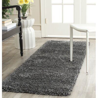Maya Handmade Dark Gray Area Rug Rug Size: Rectangle 67 x 96