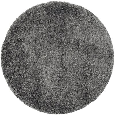 Maya Handmade Dark Gray Area Rug Rug Size: Round 67