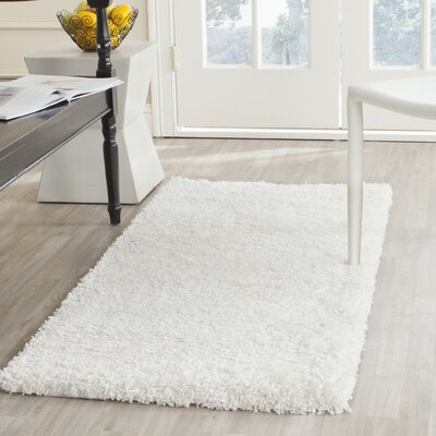 Starr Hill White Area Rug Rug Size: Runner 23 x 5