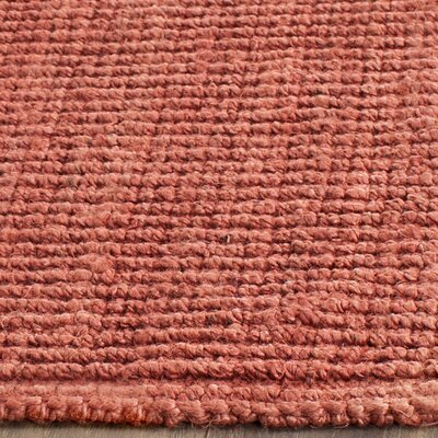 Cavanaugh Hand-Woven Red Area Rug Rug Size: Rectangle 26 x 4
