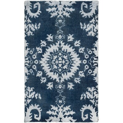 Moulouya Hand-Knotted Indigo Area Rug Rug Size: Rectangle 3 x 5