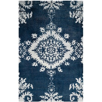 Moulouya Hand-Knotted Indigo Area Rug Rug Size: Rectangle 6 x 9