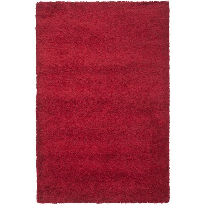 Rowen Handmade Red Area Rug Rug Size: Rectangle 8 x 10