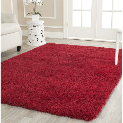 Rowen Handmade Red Area Rug Rug Size: Rectangle 4 x 6