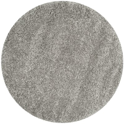 Jonathan Shag Silver Area Rug Rug Size: Round 5'3