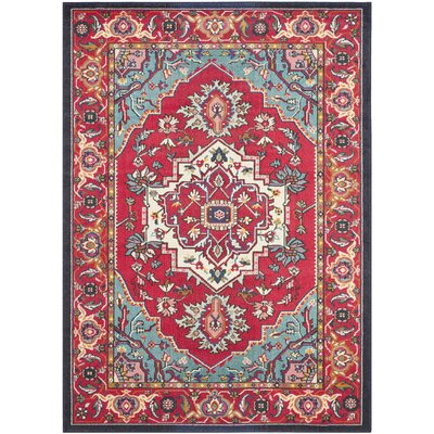 Ward Red Area Rug Rug Size: Rectangle 67 x 92