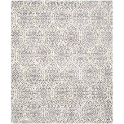 January Gray/Cream Area Rug Rug Size: Rectangle 3 x 5