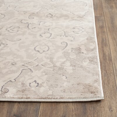 Vintage Gray/Ivory Area Rug Rug Size: Runner 22 x 8