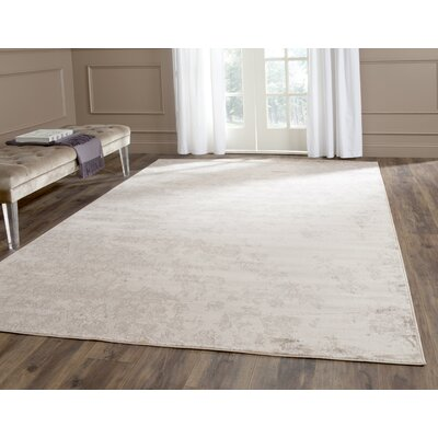 Vintage Ivory/Gray Area Rug Rug Size: Rectangle 51 x 77