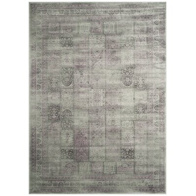 Makenna Amethyst Gray Area Rug Rug Size: Rectangle 67 x 92