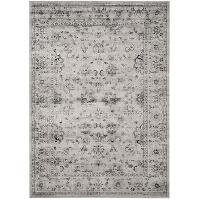 Rindge Gray/Ivory Area Rug Rug Size: Rectangle 67 x 92