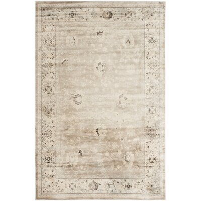 Talmont Light Gray/Ivory Area Rug Rug Size: Rectangle 23 x 39