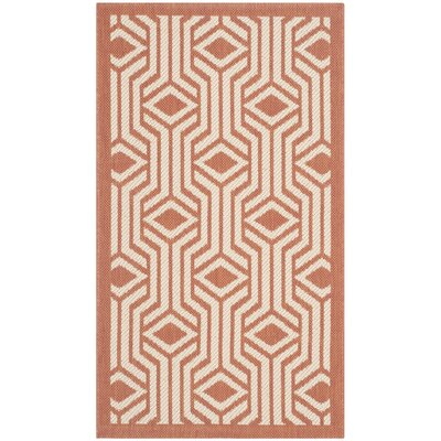 Jefferson Place Red/Beige Indoor/Outdoor Area Rug Rug Size: Rectangle 4 x 57