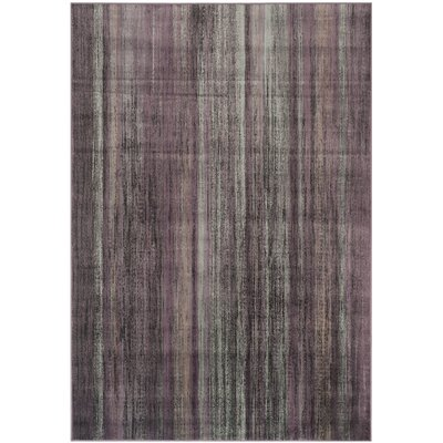 Zelda Purple/Charcoal Area Rug Rug Size: Rectangle 53 x 76