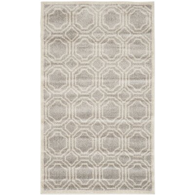 Maritza Geometric Gray/Ivory Indoor/Outdoor Area Rug Rug Size: Rectangle 8 x 10