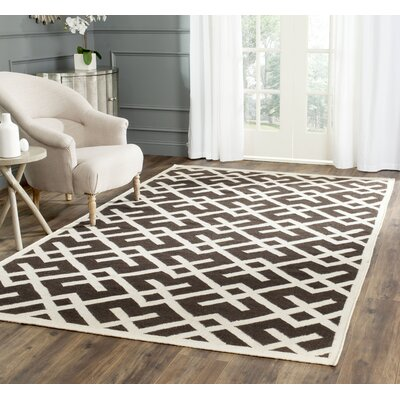 Cassiopeia Handmade Wool Brown/Ivory Area Rug Rug Size: Rectangle 4 x 6