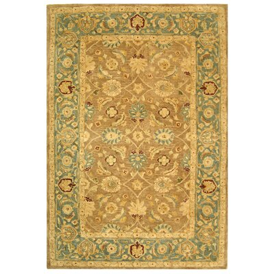 Anatolia Hand-Tufted Yellow/Green Area Rug Rug Size: Rectangle 6 x 9