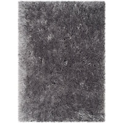 Dax Shag Hand-Tufted Gray Area Rug Rug Size: Rectangle 2' x 3'