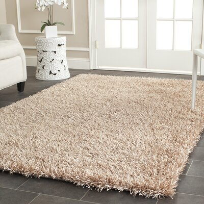 Maya Hand-Tufted Beige Area Rug Rug Size: Rectangle 5 x 8
