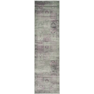 Makenna Amethyst Gray Area Rug Rug Size: Runner 22 x 8