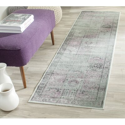 Makenna Amethyst Gray Area Rug Rug Size: Rectangle 27 x 4
