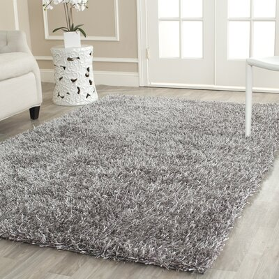 Cheevers Handmade Gray Area Rug Rug Size: Rectangle 26 x 4