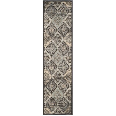 Mainville Runner Black/Ivory Area Rug Rug Size: Runner 22 x 8